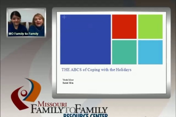 Graphic: Screenshot of ABC of Coping with the Holidays webinar